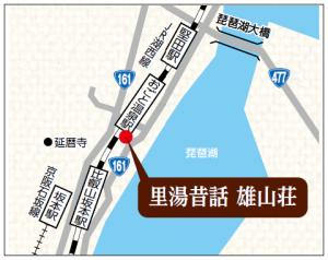 里湯昔話 雄山荘の地図