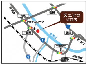 スエヒロ 近江店の地図