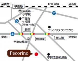 洋風居酒屋 Pecorinoの地図
