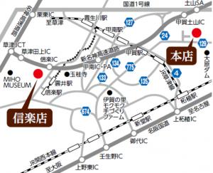 魚松の地図
