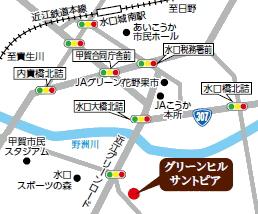 グリーンヒル サントピアの地図