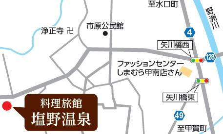 料理旅館 塩野温泉の地図