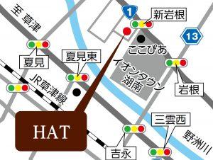 HAT (ハット)の地図